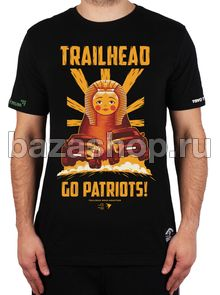 "Футболка  BAZAUAZ DKR TEAM ""GOPATRIOTS"" чёрная (размер L)  ""TRAILHEAD"" / # MTS-GOPATRIOTS (L) в Архангельске"